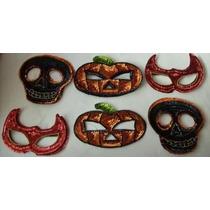 Set 6 Antifaz Craneo Calabaza Diablo Hallowen Dia De Muertos