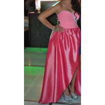 Vestido Rosa Xv Años Diseñadora Gabriela Alfaro