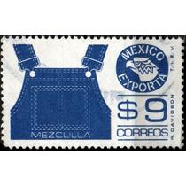 2549 Exporta 7° E Impresión Rayada 9pesos Usado 1984-85