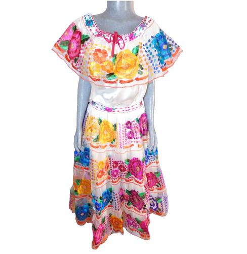 8ec3732278 Vestido De Chiapaneca   Perla   Unitalla   Bordado A Mano en venta ...