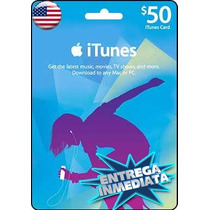 Tarjeta Gift Card Itunes De 50 Usd Para Iphone Ipad Ipod Mac