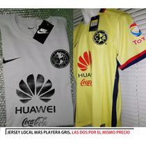 Jersey Club América Mas Playera Gris/ Venta Especial