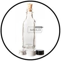 Botella De Vidrio Mini Cuadrada 50ml 24pzas (frasco Envase)