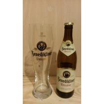 Vaso Y Botella Cerveza Benediktiner Weissbier Alemana
