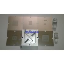 Kit 5 Stencils 80x80 Xbox360 + Soldadura + Base Reballing