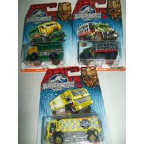 Gcg Lote De 3 Camiones Matchbox Jurassic World 2015