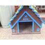 Casa Para Perro Madera Grande Varios Colores Incluye Piso