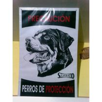 Letrero Rottweiler Precaución Perros De Protección Silverado