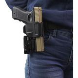 Funda Táctica Porta Arma Glock Clip Rápido Al Cinturón 360°