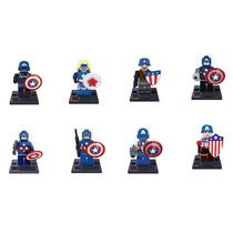 Sensacional Set Capitan America Varios Compatibles Con Lego