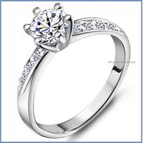 Anillo De Compromiso Diamante Natural .40ct Oro 10k -50% 176