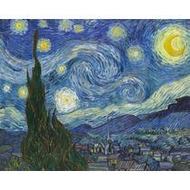 Lienzo Tela, La Noche Estrellada, Van Gogh, 74x100 Cm
