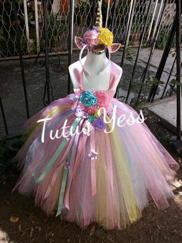 Vestido Tutu Unicornio Largo Tallas 0 A 3 Años En Venta En