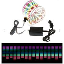 Panel Color Luces Audio Rítmico Automóvil Limousine 90 X 30