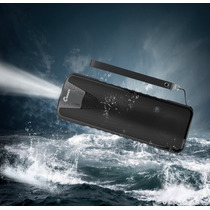 Bocina Powker Bluetooth V4.0 Waterproof Con Lampara -negro
