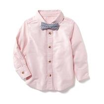 Camisa Manga Larga Old Navy Para Niño Estilo #205351 Rosa