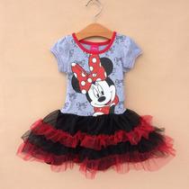 Vestido Minnie Mouse - (frozen, Peppa Pig, My Little Pony)