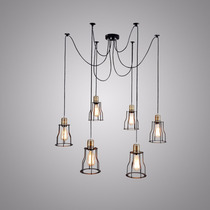 Lampara Vintage Bulbo Edison Industrial 6 Luces Colgante