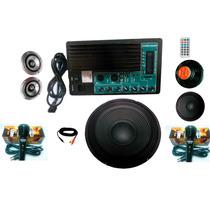 Kit Completo De Amplificador De Audio Usb,sd,mp3 Bluetooth
