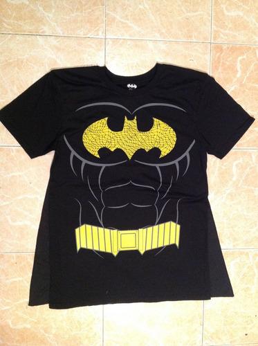 Batman Dc Comics Playera Hombre Con Capa Talla L Y Xl 6c4fbb562ac36