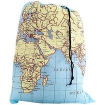 Bolsa De Viaje Para Ropa Sucia Practica Diseño Mapas
