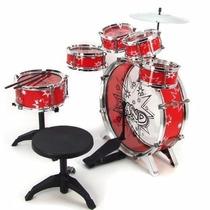 Bateria Musical Niños Infantil Roja O Azul Drum Instrumentos
