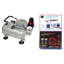 Aerografo Profesional Kit Pistola Compresor Pm0