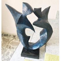 Lrc Pareja Bailando Hombre-mujer, Escultura De Bronce