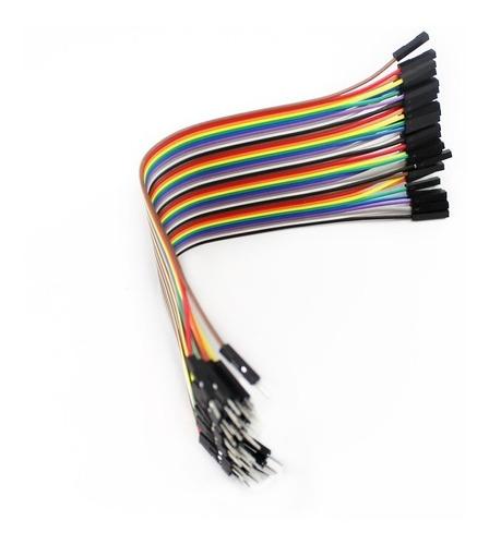 Cable Jumpers Dupont H-h, M-m, H-m 20cm 40pzas Arduino
