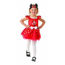 Minnie Mouse Disfraces - Mini Rojo Bailarina Mediano Niños