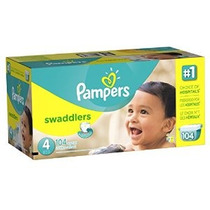 Pampers Swaddlers Pañal Tamaño 4 Paquete Gigante 104 Conde