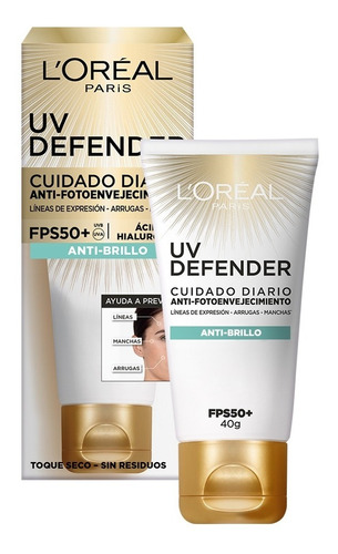 Crema Facial Protectora Fps50+ Toque Seco Sin Color