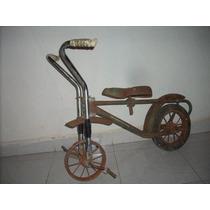 Antiguo Triciclo Bicicleta Leyca No Sidecar Del Baul Del R.