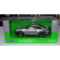 1:24 Porsche 911 Turbo 3.0 1974 Plata Welly C Caja