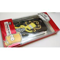 Case Iphone 5 Bart Simpson Con Piedritas Barata Bonita Mobo