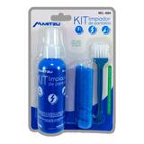 Kit Limpiador Multiusos Y Pantallas Paño Liquido Cepillo