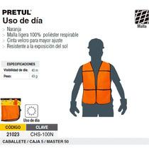 Chaleco De Seguridad Uso De Dia Naranja