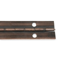 Bisagra Tipo Piano Bronce Antiguo Con Acero Battalion