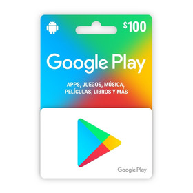 Tarjeta De Google Play $100 Pesos, Entrega Inmediata