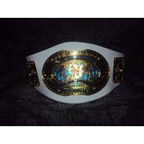 Nuevo Cinturon Wwe Intercontinental Blanco P/niño Lucha Libr