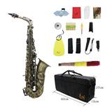 Saxofón Alto Eb E Plano Con Acabado Antiguo