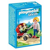 Playmobil 5573 Mama Con Gemelos Ciudad Bebes Retromex