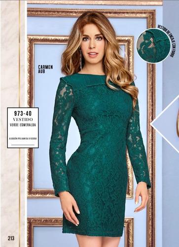 Vestido Cklass Verde Esmeralda 973 40 Otoño Invierno 2018