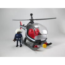 Playmobil Helicoptero Policias Rescate Ciudad 5607 Retromex