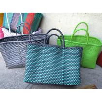 Bolsas De Plástico De Colores Tejidas A Mano