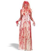 Disfraz De Carrie Para Damas, Envio Gratis, Miedo, Halloween
