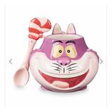 Taza Gato Cheshire Con Cuchara Original De Disney Store