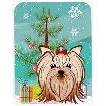 Árbol De Navidad Y De Yorkie Terrier Yorkishire De Cristal