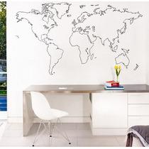 Increíble Vinilo Decorativo Mapamundi Mapa Mundial Viaje