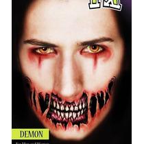 Boca Tatuajes Temporales Disfraz Diablo Tattoos Halloween